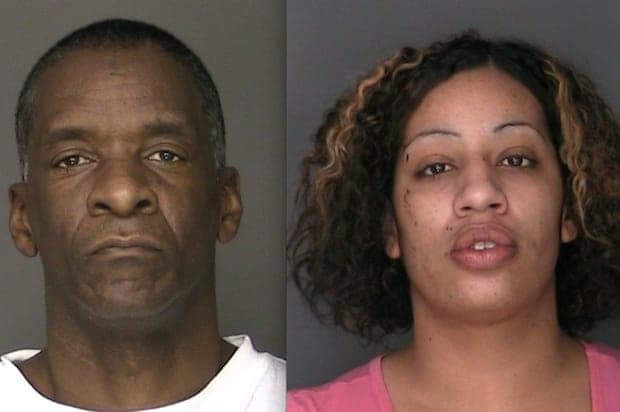 From left, Tyrone Jackson and Nzinga Walker are charged with two felony counts after allegedly using stolen credit cards to buy cigarettes, Greenburgh police said.