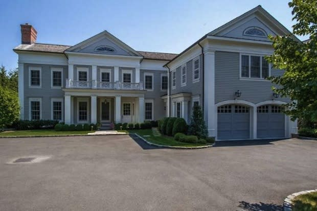 This house at 129 Five Mile River Road in Darien is listed for $7.985 million. An open house is set for Sunday from 1 to 3 p.m.