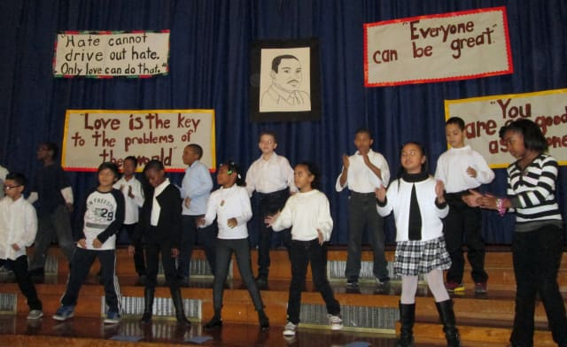 Yonkers students sang songs, recited poetry and read civil rights stories to honor the life and legacy of Martin Luther King Jr.