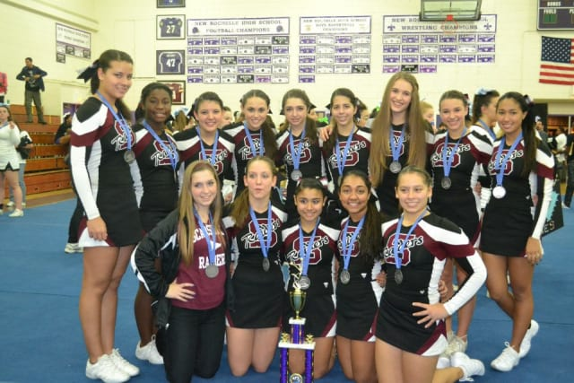 The Scarsdale varsity cheerleading squad will host the eighth annual Scarsdale Cheerleading Competition at 10 a.m. Saturday.