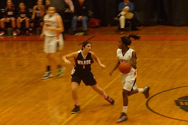 Stamford's Tiana England has helped the Black Knights' girls basketball team to a 11-0 record.