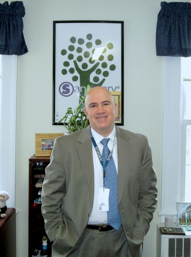 Brian Farragher, executive vice president of Andrus in Yonkers, spoke at the White House on how to change the conversation with gun violence and mental health.