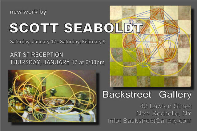 New Rochelle High School art teacher Scott Seaboldt's artist reception is Thursday.