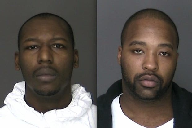 From left, Jamaal McRae and Rasheed Marks are being charged with first-degree robbery that involved beating and holding a taxi driver at gunpoint, Greenburgh police said.
