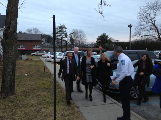 Kerry Kennedy, middle, is seeking dismissal of a charge of driving while ability impaired stemming from a July traffic accident on I-684 in Armonk.