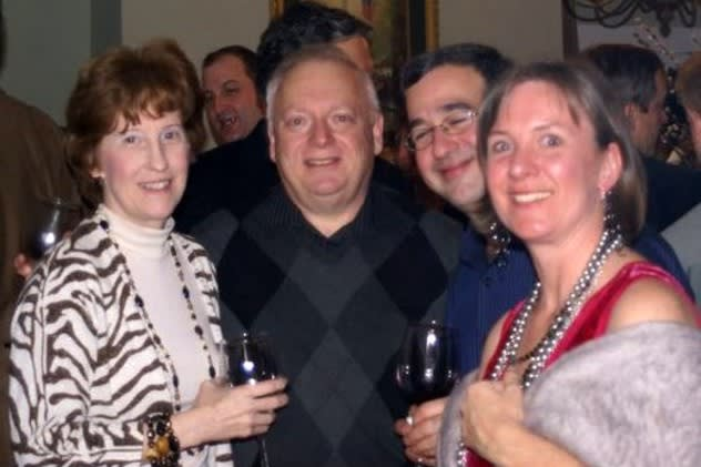 Edward Fuhrman, superintendent of Croton-Harmon Schools, second from left, his wife Janie Fuhrman, far left, and Charlie and Karen Weinstock.