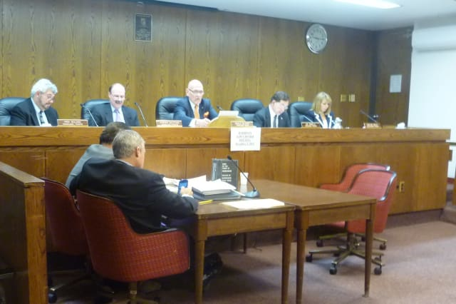 The Harrison Town Board will determine whether Morgan Stanley can install solar panels at its facility in Purchase.