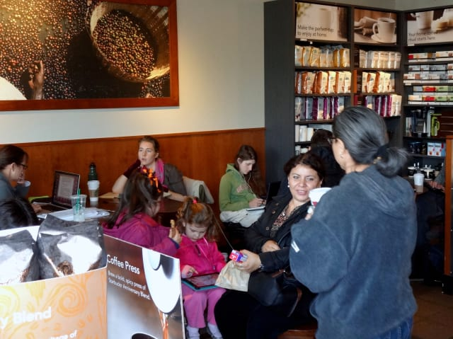 Starbucks is one of the many stores open in Bronxville for Martin Luther King Jr. Day.