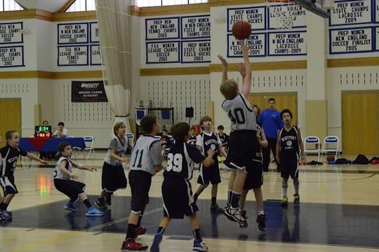 New Canaan children are invited to compete in a free throw shooting competition Sunday at New Canaan High School.