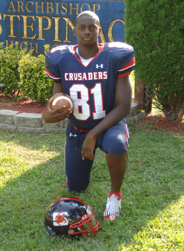 Ossining's Tarik Stovall was recruited by several colleges.