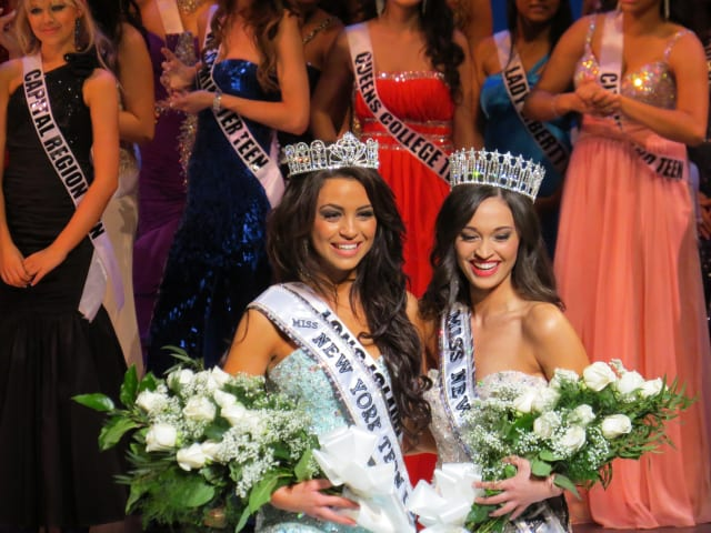 Nikki Orlando and Joanne Nosuchinsky were the winners at the pageant in SUNY Purchase.