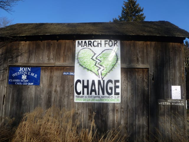 Join more than 200 Weston residents and attend the March for Change rally in Hartford on Feb. 14.