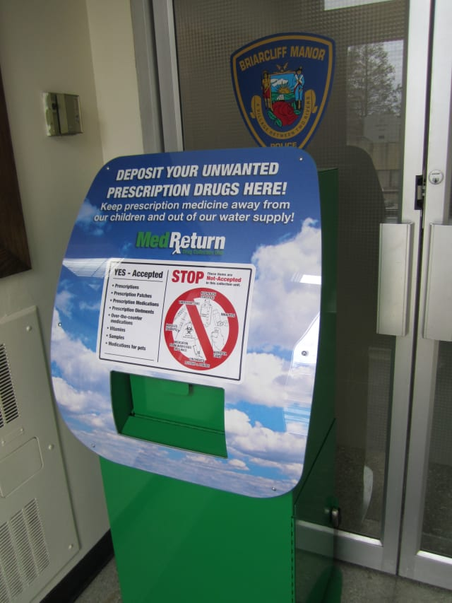 The Village of Briarcliff Manor Police Department recently installed a prescription-drug take-back box in the police facility.