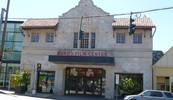 The Jacob Burns Film Center kept its facade similar facade to the previous business in the same location.