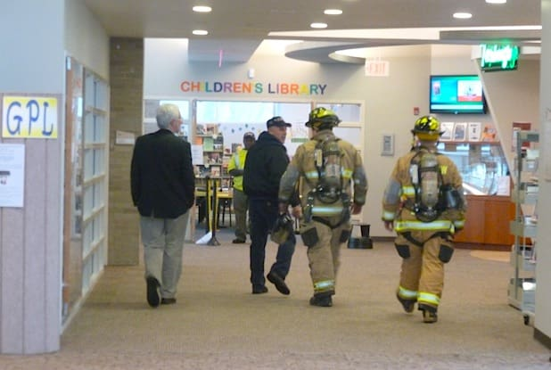 The Fairview Fire Department responded to the Greenburgh Public Library Monday afternoon after the fire alarm was set off, causing more water damage from the sprinkler system.