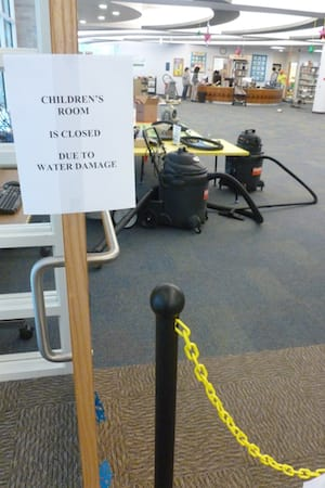 The children's room at the Greenburgh Public Library remained closed Tuesday from water damage. The Town Board concluded the library's issues need more than a quick-fix.