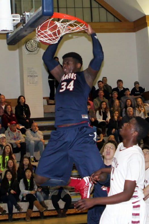 Sean Obi is averaging 18.7 points and 12.7 rebounds per game for the Greens Farms Academy boys basketball team.