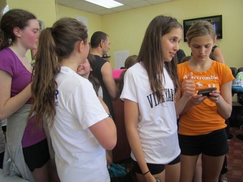 Briarcliff High School student Jordana Cohen, center, is organizing a second annual Spinathon this year to raise money for Pediatric Cancer research.