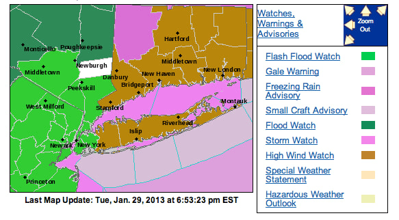 A flash flood watch is in effect for Mamaroneck Wednesday night.