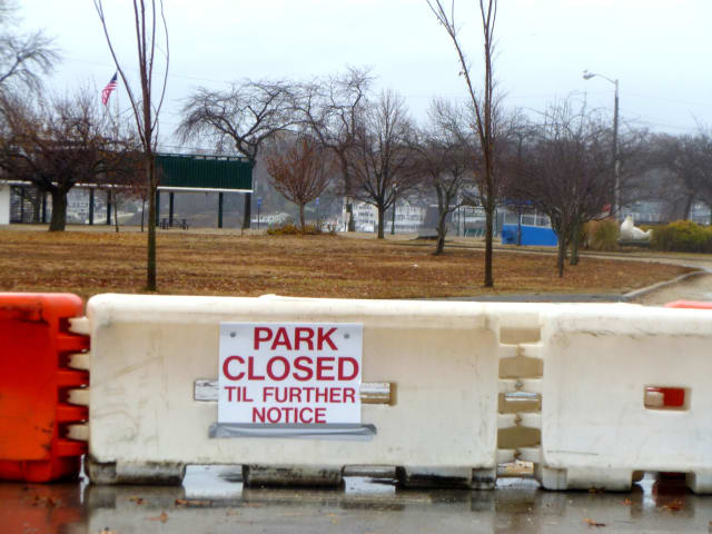Stamford's beaches were so badly damaged during Hurricane Sandy the city had to close them to the public.
