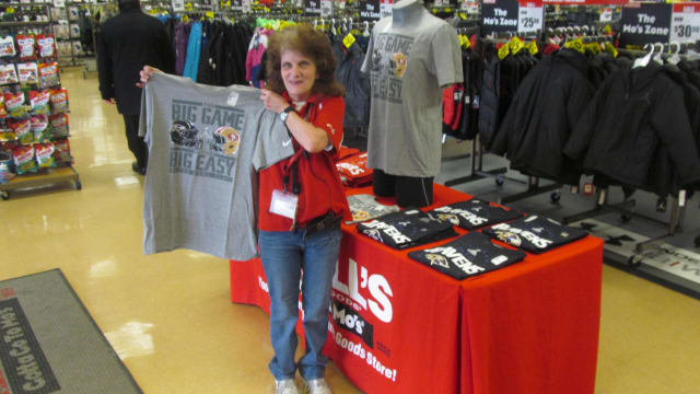 Super Bowl t-shirts have been selling fast at the Port Chester Modells.
