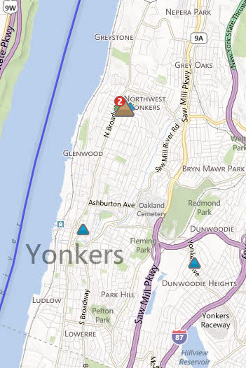 Nearly 1,000 are without power in Yonkers after heavy rains and winds lashed the area Thursday.
