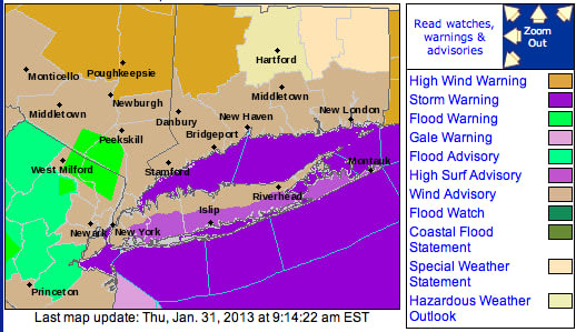 A wind advisory is in effect until Thursday at 6 p.m.