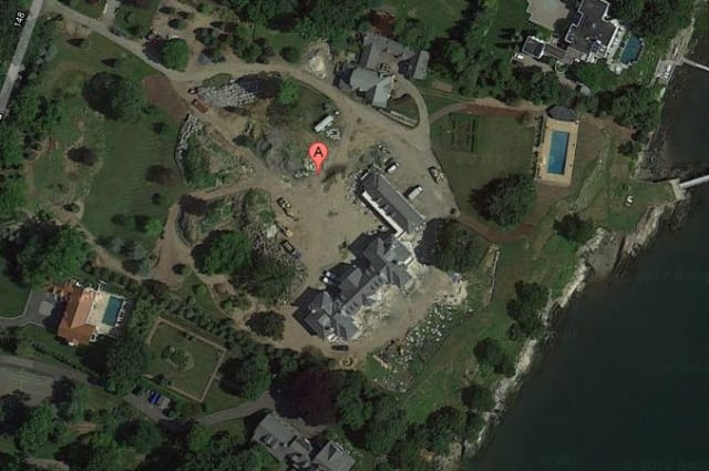 Charles and Theresa Davidson's 9.2 acre home on Byram Shore Road is once again the highest-valued home in Greenwich at $30.6 million.