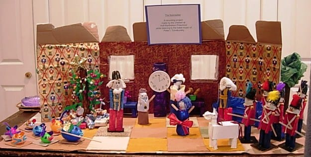 "Students at the Scarsdale music school used recycled goods to recreate ""The Nutcracker."""
