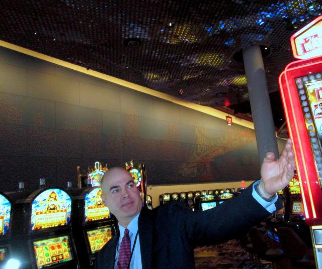 Yonkers Empire City Casino General Counsel Tim Rooney Jr. gave a tour of the casino's nearly completed $50 million expansion.