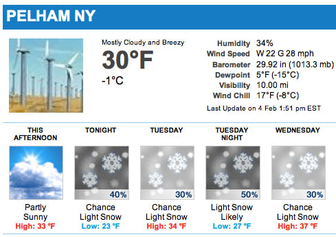 Cold temperatures and light snow are expected all week in Pelham.