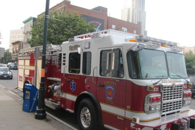 The New Rochelle firefighters responded to 30 percent more emergency calls than in the past 12 years, according to the department.