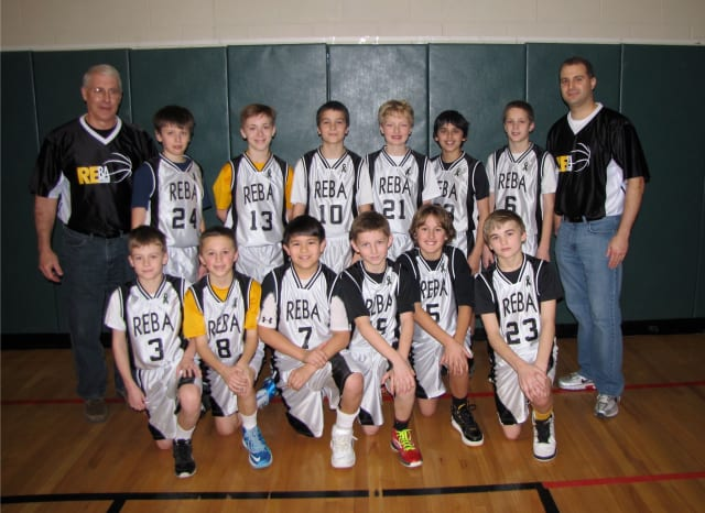 The Redding-Easton Association's 5th Grade Boys Gold Team won the Fairfield County Basketball B League North Division title.
