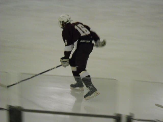 Sophomore Nick Fiorentino has 17 goals and 15 assists so far this season for the Fordham Prep varsity hockey team. Fiorentino centers the first line.