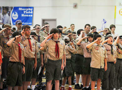 The Boy Scouts of America is reviewing its national policy that bans gays from Scouting.