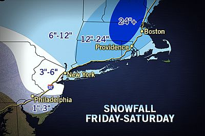 More snow will hit the eastern part of Fairfield County than in the western.