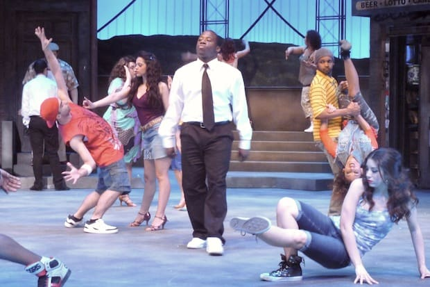 "Elmsford native FaTye, center, will star in Westchester Broadway Theatre's ""In the Heights"" as Benny, an African American who is struggling to fit in in a predominantly Spanish-speaking community."
