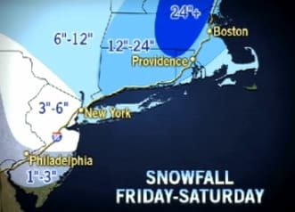 Blizzard conditions are predicted for Fairfield County Friday and Saturday.