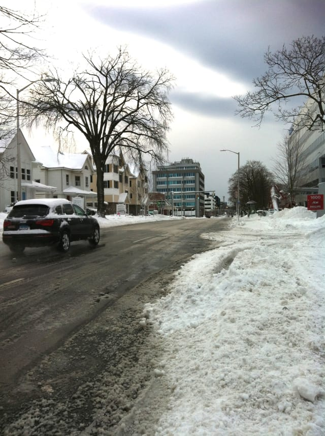 The National Weather Service warned of icy roads Saturday night and Sunday.
