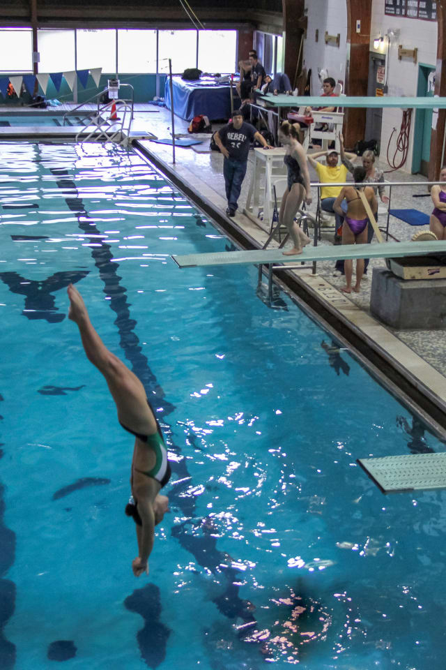 Whirlwind Diving's Kyla Pech of Darien competes at a recent meet.