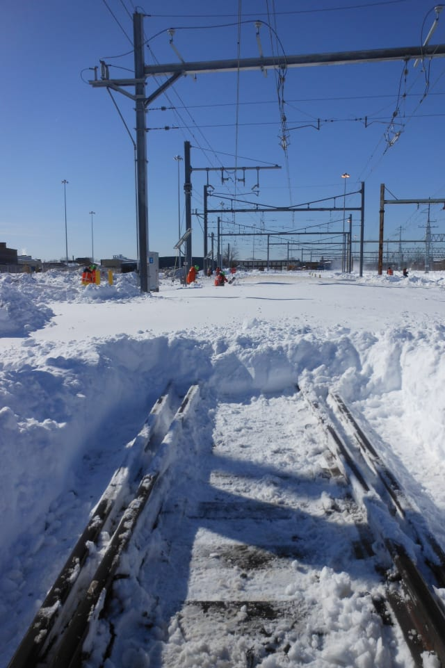 Metro-North is recovering from the blizzard that occurred over the weekend at the Bridgeport yard.