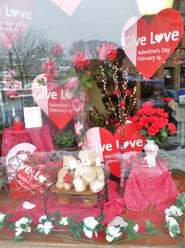 Balloons & Flowers in Hastings-on-Hudson is ready for Valentine's Day.
