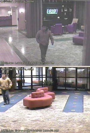Greenburgh police are looking for this suspect, caught on the Marriott Hotel's video surveillance, as part of a rape investigation.