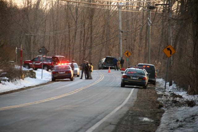 A Somers man was critically injured when he was struck by a vehicle traveling north on Route 22 in Purdys.
