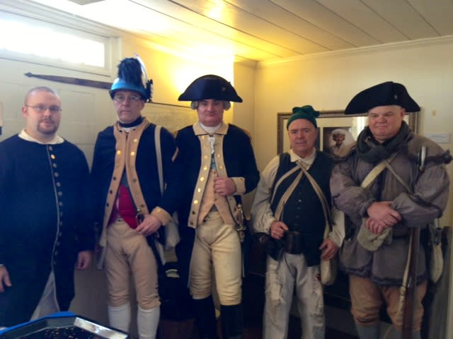 Revolutionary War re-enactors -- including a George Washington, middle, and his troops -- attended the celebration in White Plains.
