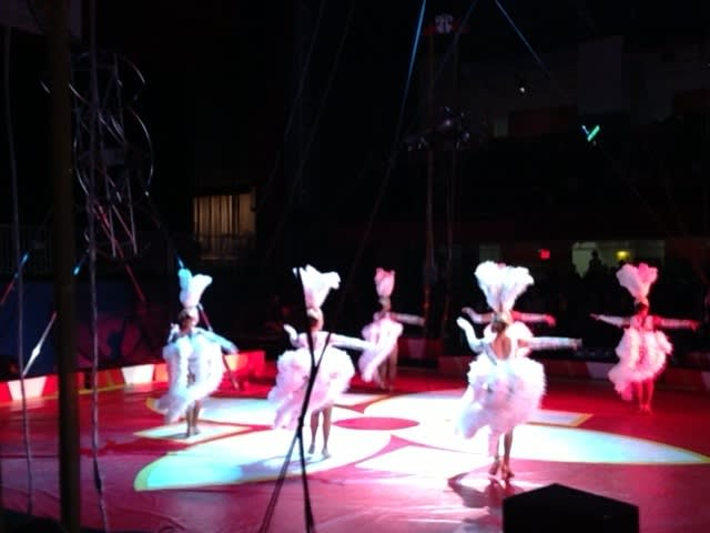 Dancers at the Royal Hanneford Circus in White Plains.