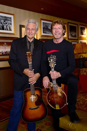 Bluegrass favorites Del McCoury and Sam Bush will perform at the Norwalk Concert Hall Sunday night.