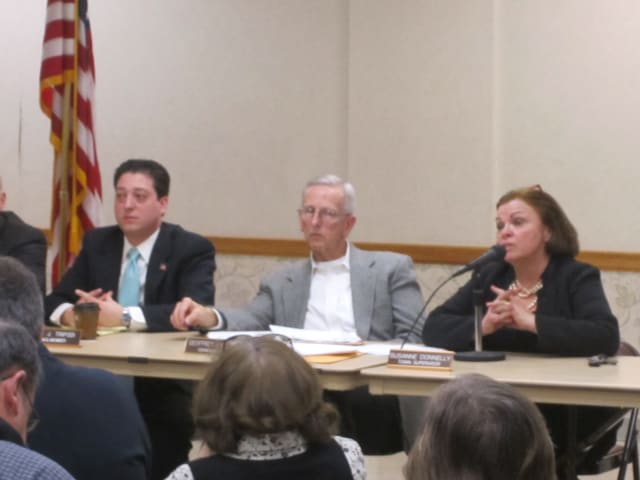 Ossining Town Supervisor Susanne Donnelly, right, recently gave her State of the Town address.