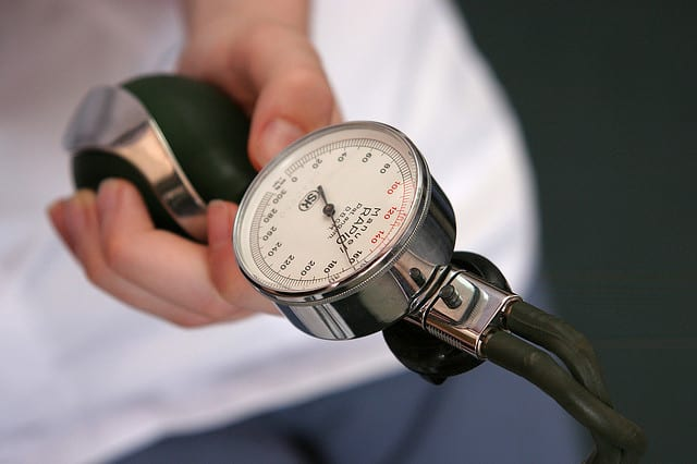 Elevated blood pressure is one of the risk factors for coronary artery disease.