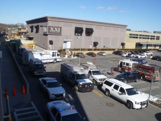 Yonkers police are investigating a suspicious package found Thursday morning at the Cross County Shopping Center.
